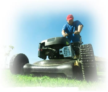 Lawn Mower cutting grass.